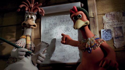 """kadr z animacji """"Uciekające kurczaki"""""""
