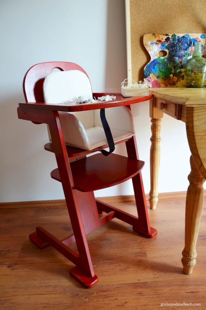 renowacja krzesełka do karmienia